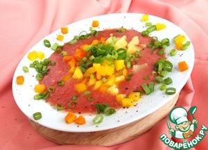 Рецепт Томатный холодный суп с овощами