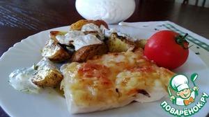 Рецепт Куриное филе с ананасами и сыром
