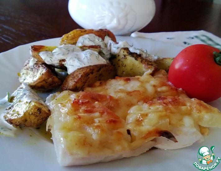 Рецепт: Куриное филе с ананасами и сыром