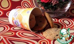 Рецепт Цельнозерновое печенье с шоколадными каплями