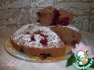 Рецепт Шоколадный кекс с вишней и орешками в мультиварке