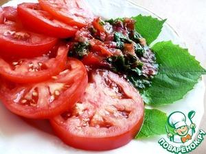 Как готовить простой рецепт с фотографиями Томаты с сальсой из виноградных листьев