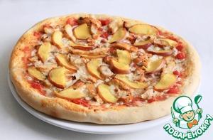 Рецепт Пицца с курицей и персиками