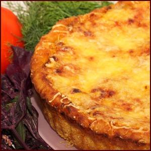 Рецепт Открытый мясной пирог из кольраби
