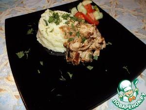 Рецепт Курица обжаренная в сметане