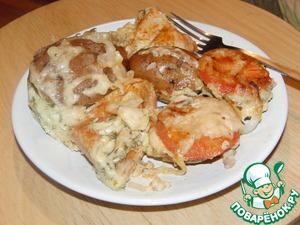 Рецепт Картофельные сэндвичи с курицей