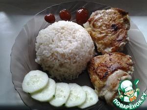 Как приготовить Куриные бёдрышки с рисом по-азиатски вкусный рецепт с фото