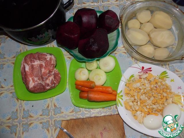 Свекольник горячий с мясом рецепт с пошагово