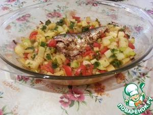 Рецепт Запеченная средиземноморская сардина с овощами