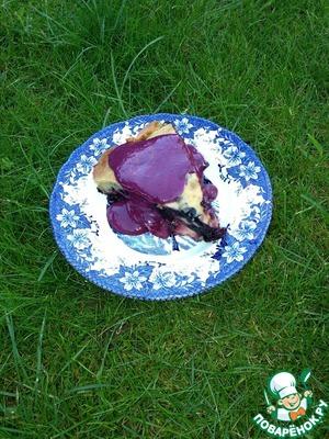 Рецепт Ржаной пирог с творожно-черничным соусом