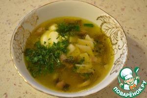 Рецепт Суп грибной с галушками