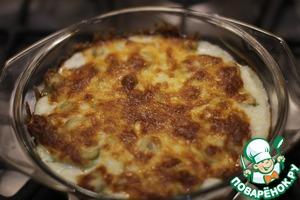 Рецепт Кабачки с сыром, оливками в сметанном соусе (как-то так)