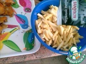 Рецепт Жареный картофель с лесными грибами