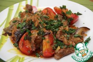 Рецепт Телятина с баклажанами