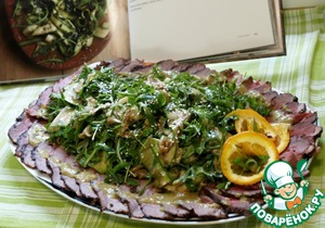 Рецепт Салат из молодых цуккини и рукколы со свежей мятой