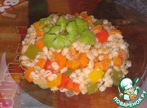 """Рецепт Перловая кашка с овощами """"Калейдоскоп"""""""