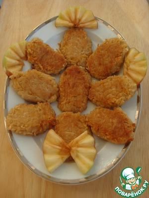 Рецепт Овсяные лимонно-яблочные оладьи без сахара и яиц