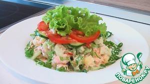 Рецепт Салат из рыбы с помидорами