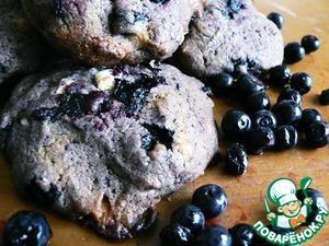 Рецепт Черничное печенье с белым шоколадом