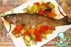 Рецепт Форель с овощами