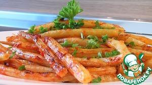 Рецепт Стручковая фасоль с помидором
