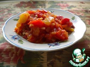 Рецепт Салат с рисом на зиму (без уксуса)