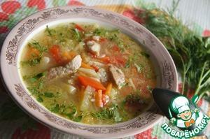 Рецепт Суп из лука-порея со свининой