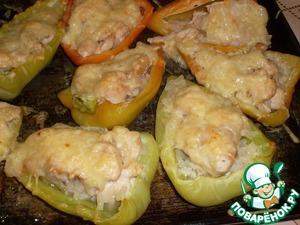 Рецепт Перцы, фаршированные курицей