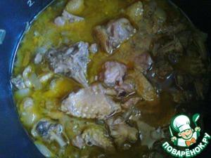 Рецепт Утка, тушенная в овощном соусе