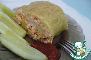 Рецепт Картофельный рулет с горбушей