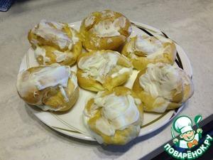 Рецепт Пирожные Шу со сливочно-творожным кремом