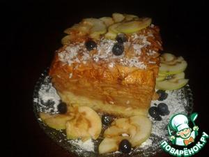 Рецепт Яблочный пляцок (пирог)