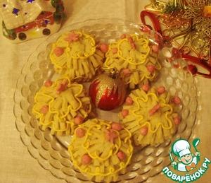 Рецепт Печенье с творожно-кокосовой начинкой «Ёлочки»