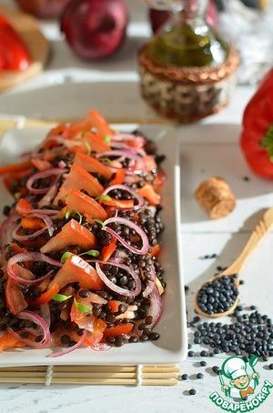 Рецепт Салат из чечевицы с маринованным луком