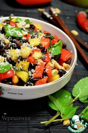 Рецепт Салат из черной фасоли в азиатском стиле