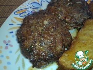 Рецепт Греческие котлеты в духовке (бифтекья)