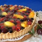 Сметанный тарт со свежими ягодами