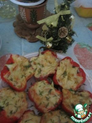 Рецепт Перцы фаршированные творогом и сыром