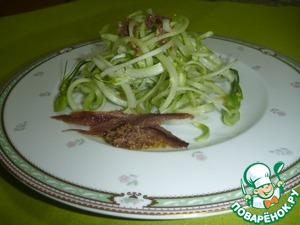 Рецепт Пунтарелле с соусом из анчоусов