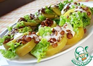 Рецепт Салат из картофеля и зеленой чечевицы с каперсами