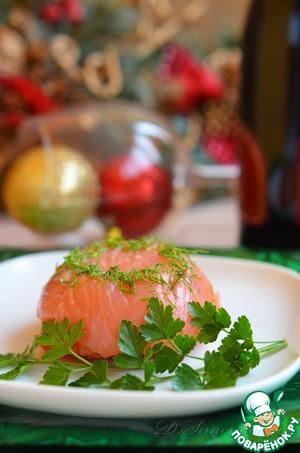 Рецепт Мешочки из семги со сливочным сыром и диким рисом