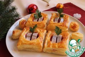 Рецепт Волованы со свеклой и сельдью