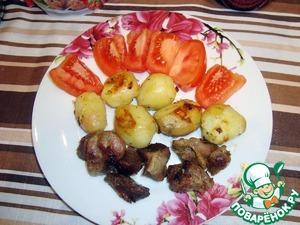 Рецепт Желудочки с молодым картофелем