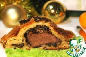 Рецепт Мясо в слоеной шубке
