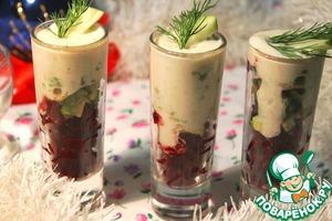 Рецепт Закуска в верринах с нежным селедочным муссом