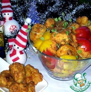 Рецепт Цветная капуста и брокколи в кляре