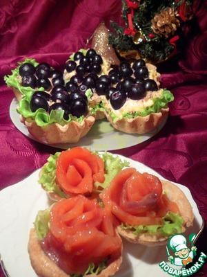 Рецепт Две любимые закуски в тарталетках
