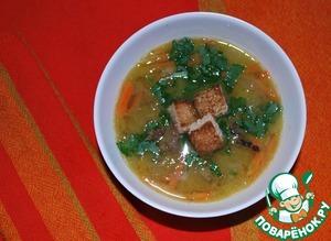 Рецепт Суп гороховый с копченой уткой