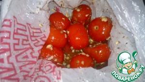 Рецепт Соленые помидоры быстрые, в пакете