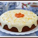 Морковный пирог с лимонным кремом